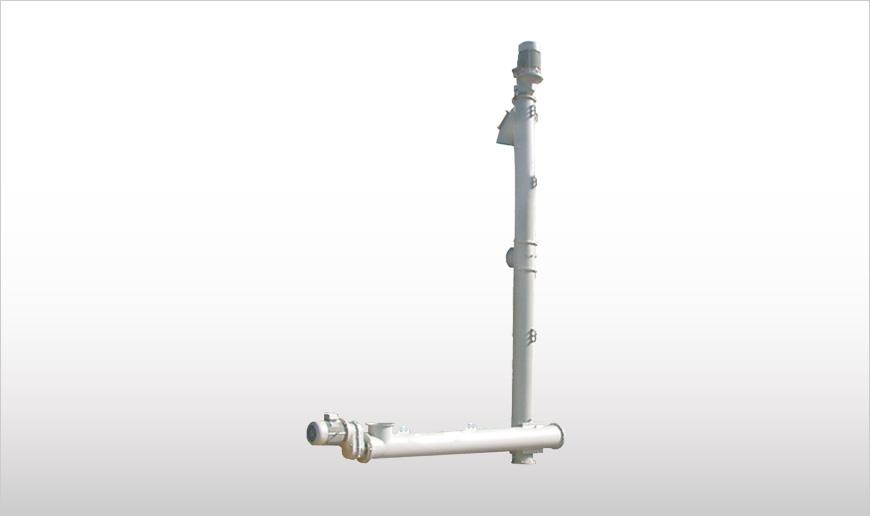 вертикальный шнековый конвейер VE